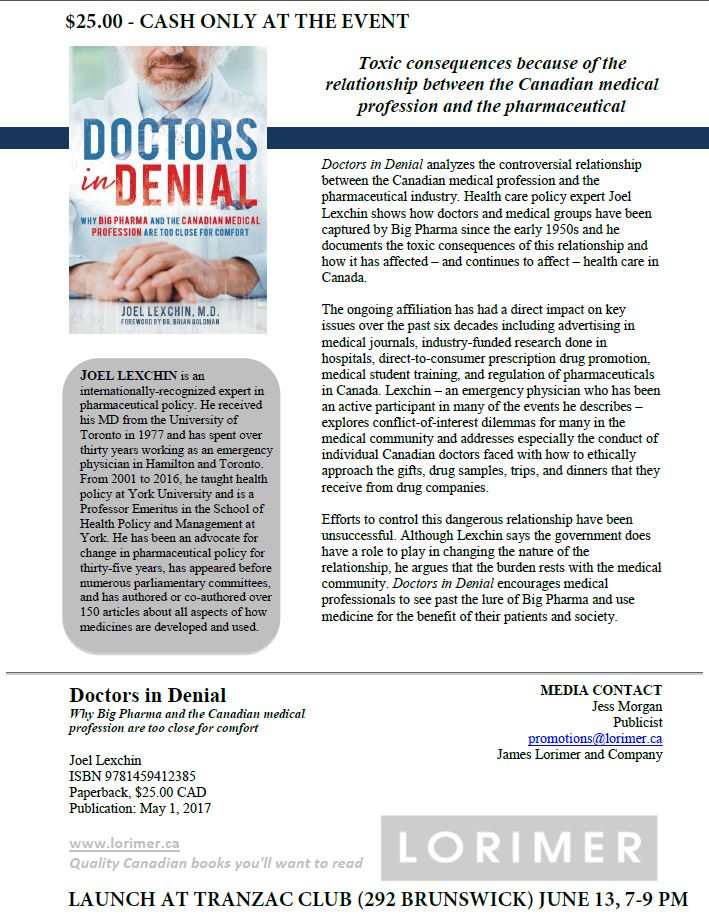 "Book Launch: ""Doctors In Denial"" @ Transzac Club 